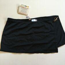 Women's Black Swim Skirt Sun Streak Lycra Size 8 Newport News Brand New