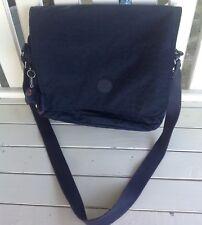 Kipling Navy Blue Messenger Expandable CrossBody Bag + Monkey Ape KeyChain *WoW*