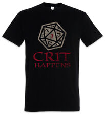 CRIT HAPPENS T-SHIRT Dungeons Gamer Games & Video RPG Roleplay Dragons Larp Dice