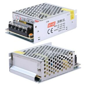 For LED Strip Light Switching Power Supply 5A 60W AC TO DC Regulated Replacement