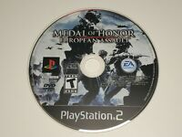Medal of Honor European Assault SONY PS2 PlayStation Tested + Working! Disc ONLY