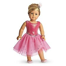 NEW in Box American Girl Isabelle's Pretty Pink Sparkle Dress Outfit Set 5 Items