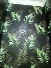 Black Green Palm Leaf Wallpaper Tropical Rainforest Paste Wall Fine Decor Kalani
