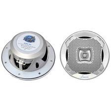 "Lanzar AQ6CXS 6.5"" 2-Way Marine Speakers 400W. Silver"