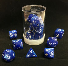 Polyhedral 7 - Die Max Pro Premium Dice Set - Pearl Blue with White MX