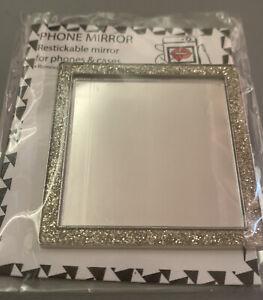 New Glittered Square Phone Mirror