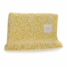 William Morris Strawberry Thief Blanket - Ochre Yellow