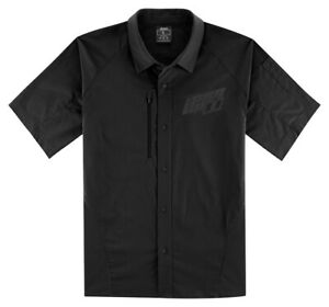 Icon Motosports OVERLORD Snap-Front Shop Shirt (Black) Choose Size