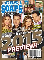 CBS Soaps In Depth Magazine December 29 2014 Justin Hartley 2015 Preview