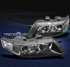 2004-2005 ACURA TSX SEDAN 4DR PROJECTOR HEADLIGHT LAMP JDM BLACK LEFT+RIGHT PAIR