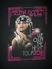 SELENA GOMEZ & SCENE CONCERT T SHIRT We Own Night 2011 Tour Cities YOUTH LARGE
