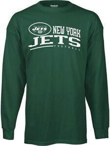 Reebok New York Jets NFL Men's Arched Horizon Long Sleeve Tee, Green