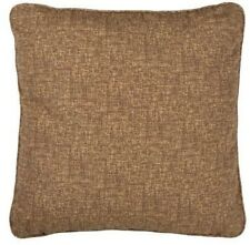 "Set of 2 brown coffee Indoor / Outdoor 20"" x 20"" Square Throw Pillows 6"" deep"