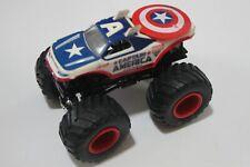 hot wheels monster jam truck marvel captain america red rims combine ship