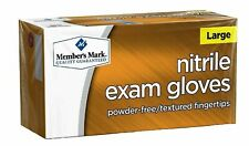 MEMBER'S MARK NITRILE EXAM GLOVES SIZE: LARGE (200) NEW WITH BOX