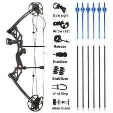 Archery Compound Bow Arrow Set 30-70lbs Sight Stabilizer Arrow Rest Bow Hunting