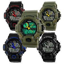 Luxury Mens LED Digital Sports Watch Waterproof Rubber Date Alarm Wrist Watch