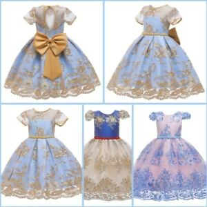 Dress Princess Kid Formal Party Tutu Girl Wedding Bridesmaid Baby Flower Dresses