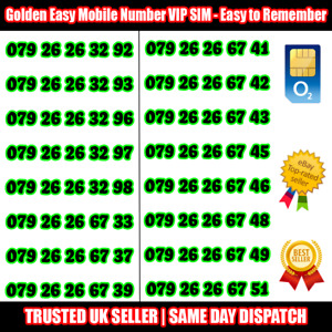 Gold Easy Mobile Number VIP SIM - Easy to Remember & Memorise Numbers LOT B139