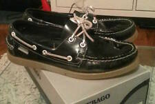 Sebago Docksides Midnight Grey Patent Leather black 8