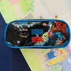 Batman Superman Pencil Case Christmas Pouch Plastic Pencil Case Authentic Bag