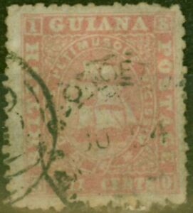 British Guiana 1863 8c Pink SG54 Ave Used Ex-Fred Small