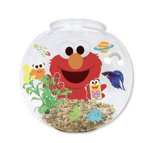 Sesame Street Elmo'S World 1.2 Gallon Fish Bowl Kit For Kids NEW