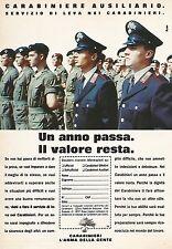 X0181 Carabiniere ausiliario - Pubblicità 1992 - Vintage Advertising