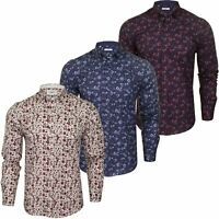 Xact Mens Floral Long Sleeved Shirt