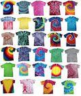 Multi-Color Tie Dye T-Shirts  S M L XL 2XL 3XL 4XL 5XL Cotton Colortone-Gildan