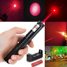 High Power Red Laser Pointer Pen G301 650nm Visible Burn Lazer+18650+Charger MT