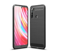 SDTEK Case for Redmi Note 8T Carbon Fibre Silicone Cover Shockproof (Black)