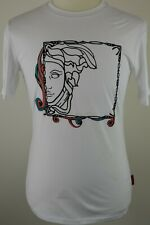 Mens Versace Collection White Medusa Red Label Crew Neck T Shirt Medium RRP £150