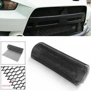 Black Aluminum Mesh Grille Cover Car Bumper Hood Vent Grill Net Car Accessories