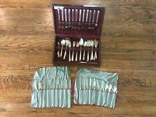 Oneida Prestige Bordeaux Flatware Silverware Silver Plate 84 Pc Set - Serves 12