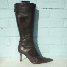 Karen Millen Leather Boots Size Uk 8 Eur 41 Womens Shoes Brogue Brown Boots