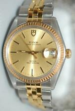 Rolex Tudor Prince Oyster Date 34mm Watch w Solid Gold Bezel ref. 90733 - Ex+!
