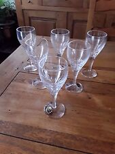 6 verre a eau en cristal de lorraine estampillés 1