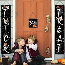 3 Pack Halloween Trick or Treat Banner Outdoor Decorations Set Fun Hanging Signs