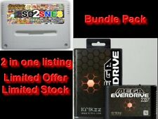 COMBO Krikzz Mega Everdrive X7 & Ikari Sd2Snes Flash Cart Bundle SFC & MD lot