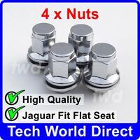 4x ALLOY WHEEL NUTS JAGUAR (M12X1.5) OE-FIT CHROME LUG BOLT STUD QUALITY [4L]