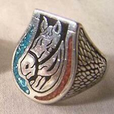 mens fashion Mens Womens Hores Jewelry Deluxe Horse Head Metal Biker Ring Br28R