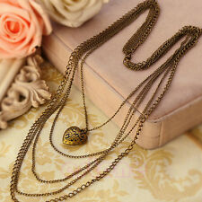New jewelry Fashion Heart Pattern Retro long Pendant sweater Chain Necklace