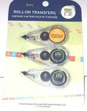 Around the Block Roll-On Transfers, Baby, 3 Meters ea of 3 designs, New
