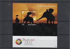 Montserrat 2013 MNH Sites and Scenes Thailand 1v S/S World Stamp Elephant Ride