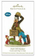 2012 Hallmark Goofy Chip 'n Dale Half-Off Hijinks Ornament!