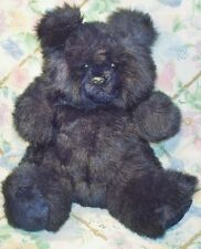 Vtg Ty Classic Bear 1987 1988 ? Stuffed Plush Black Bear Blackie Skinny Tush Tag