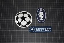 UEFA CHAMPIONS LEAGUE and 9 TIMES CHAMPIONS and RESPECT BADGES 2011-2012