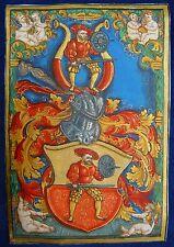 RENAISSANCE.GLOCKENDON Wappen Miniatur c1540-1550 Pergament GOLD Vellum MUSEAL
