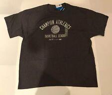 Champion Athletics Basketball League T-shirt Vintage Script Logo Retro Shirt XL